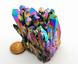 Drusa Crystal Aura Arco-Iris ou Titaniun Bruto Cod AI9675