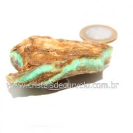 Crisoprasio Bruto Natural Pedra Familia da Calcedonia Cod 123170