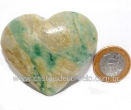 Coraçao Jade Verde Natural Origem Montes Claros MG Cod 121628
