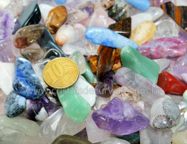 1kg Cascalho Polido Pedras Misto Pequena/Media REF MG5531