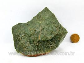 Basalto Verde Bruto Pedra Pra Colecionador ou Estudante de Minerais Geologia Cod 383.6
