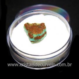 Crisoprasio Bruto Lasca No Estojo Mineral Natural Cod 118540
