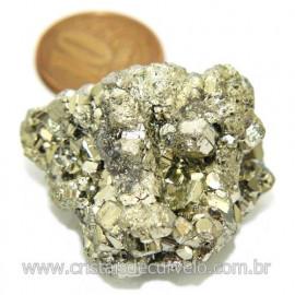 Pirita Peruana Pedra Extra Com Belos Cubo Mineral Cod 119271