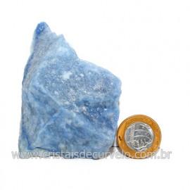Quartzo Azul ou Aventurina Azul Bruto Natural Cod 123193