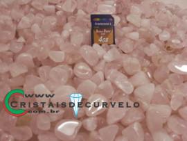 Quartzo Rosa Rolado Tamanho Medio Pacote 1kg de Cristal Natural Rosa Rolado