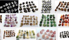 10 Jogo de Runas Misto Alfabeto Antiga Europa Viking 25 Pedras Natural ATACADO
