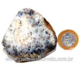 Agata Com Dendrita Pedra Calcedonia Natural de Coleção Cod 123711
