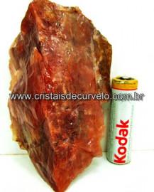 Aragonita Vermelho Pedra de Colecionador Mineral Bruto Rocha de Garimpo Cod 179.6