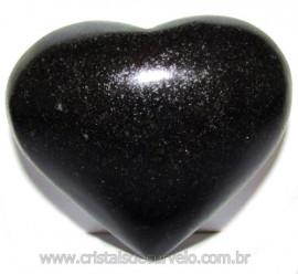Coraçao Quartzo Preto Quartzito Negro Natural Cod 115329