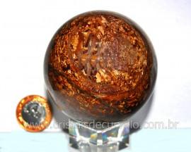 Esfera Bronzita Pedra Natural Mineral de Rocha Lapidado Manual cod 570.3