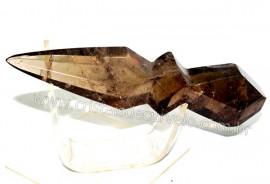Adaga ou Athame Faca Pedra Fume Natural Esoterico Cod AF7736
