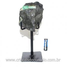 Esmeralda Canudo Pedra Natural com Suporte De Ferro Cod 121539