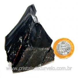 Obsidiana Negra Mineral Vulcanico Pedra Natural Cod 123973