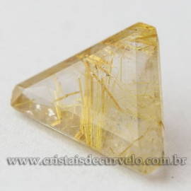 Rutilo Gema Trillion Pedra Natural Montar Prata e Ouro 112763