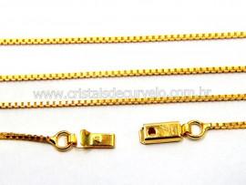 Cordão ou Correntinha Veneziana Dourada REF 60CM Reff CD6104