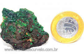 Malaquita Especial Matriz Mineral Pequeno Natural  Cod MB8297