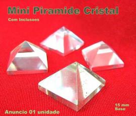 Piramide CRISTAL Mini Piramide Base Medidas Quéops Semi Transparente