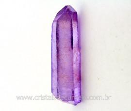 Ponta Crystal Aura Purple Flame ou Lilas Bruta Cod AL3751