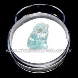 Topazio Azul No Estojo Mineral Bruto Pedra Extra Cod 117175