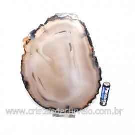 Chapa de Agata Preta Porta Frios Bandeja Pedra Natural 128769