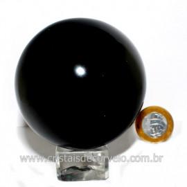 Esfera Obsidiana Negra Pedra Lava Vulcanica Natural 126130