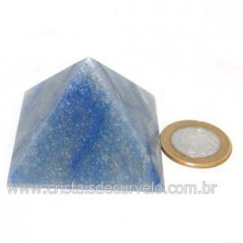 Piramide Pedra Quartzo Azul Medida Baseada Queops Cod 128415