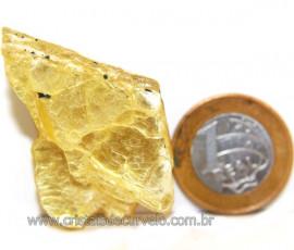 Chapa de Mica Amarela Bruta Natural de Garimpo Cod 111166