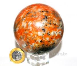 Esfera Calcita Laranja Bola Pedra Natural Medio Cod EC4628