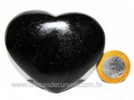 Coração Quartzo Preto Quartzito Negro Pedra Natural Cod CP7154