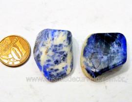 02 Sodalita Azul Pedra Rolado Unidade Boa Qualidade Ideal Montagem de Artesanato  Ref 22.4