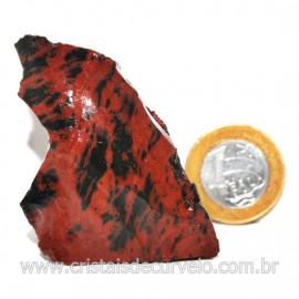 Obsidiana Mogno ou Mahogany Pedra Bruta Vulcanica Cod 127633