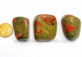 03 Unakita Rolado Pedra Natural de Garimpo Esoterismo Colecionador Ref 34.7