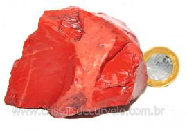 Jaspe Vermelho Pedra Natural Mineral de Esoterico Cod JV8459