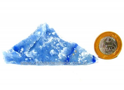 Quartzo Azul ou Aventurina Azul Pedra Bruto Natural Cod QA3234