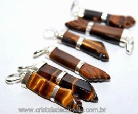 10  Figa Olho de Tigre Prata 950 Mini Pingente Amuleto Da Sorte e Proteção Reff PF9583