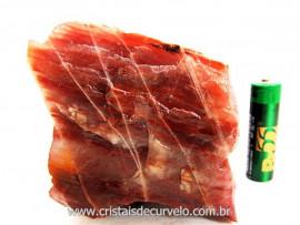 Aragonita Vermelho Pedra de Colecionador Mineral Bruto Rocha de Garimpo Cod 402.1
