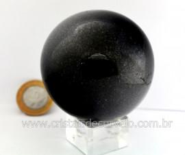 Esfera Pedra Quartzo Preto ou Quartzito Cristal Negro Intenso Cod 470.7