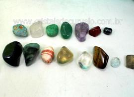 Kit Pra Colecionar Pedras Semi Preciosas Box Com 15 Minerais Diferentes REF 75.6