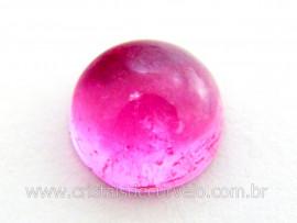 Gema Turmalina Rosa Lisa Pedra Natural 1.9ct 7mm Reff TR7469