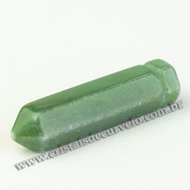 Pingente Difusor Aromaterapia Pedra Quartzo Verde Ponta Ranhurado
