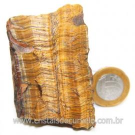 Olho de Tigre Pedra Extra Bruto Natural da África Cod 121227