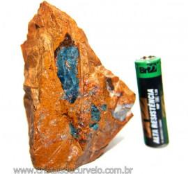 Canudo Apatita Azul Incrustado na Matriz Feldspato Cod 110101