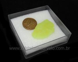 Calcedonia Verde Natural No Estojo Ideal P/Coleção Cod 104734