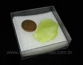 Calcedonia Verde Natural No Estojo Ideal P/Coleção Cod 104729