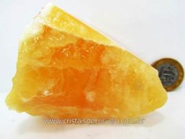 Calcita Laranja Mexicana Mineral Firme Pedra Natural Para Coleção ou Esoterismo Cod 292.6
