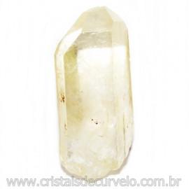 Ponta Quartzo Citrinado Cristal Bruto Tom Amarelo Cod 115262