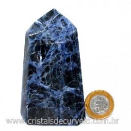 Ponta Sodalita Pedra Natural Gerador Sextavado Cod 126549