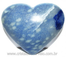 Coração Quartzo Azul Pedra Natural de Garimpo Cod 114996