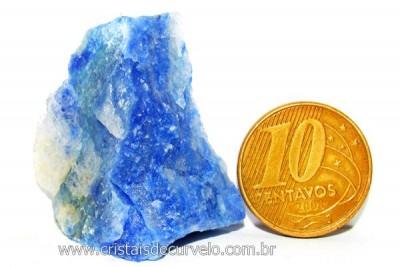 Quartzo Azul ou Aventurina Azul Pedra Bruto Natural Cod QA5546