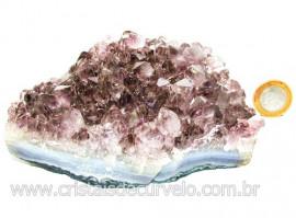 Drusa Ametista Média Pedra Natural Lilás Boa Cor Cod 113996